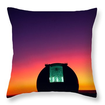 Keck Observatory Throw Pillow by Peter French - Printscapes