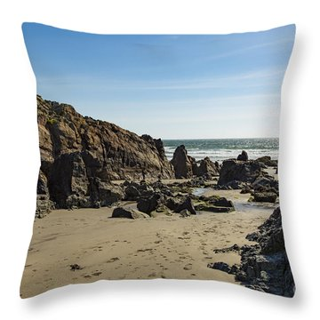 Throw Pillow featuring the photograph Kennack Sands by Brian Roscorla