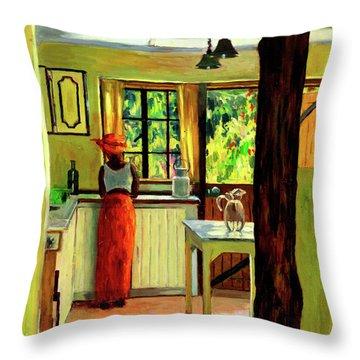 Kenyan Kitchen Throw Pillow