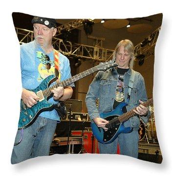 Kerry Livgren And Steve Morse Kansas Throw Pillow