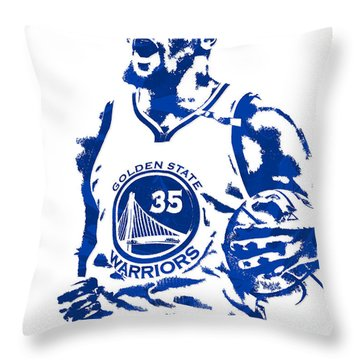 Kevin Durant Golden State Warriors Pixel Art 4 Throw Pillow