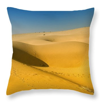 Throw Pillow featuring the photograph Khuri Desert by Yew Kwang