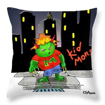 Kidmonsta Throw Pillow