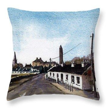 Killala Village Mayo Throw Pillow