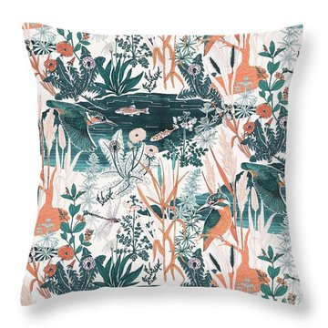 Kingfisher Throw Pillow by Jacqueline Colley