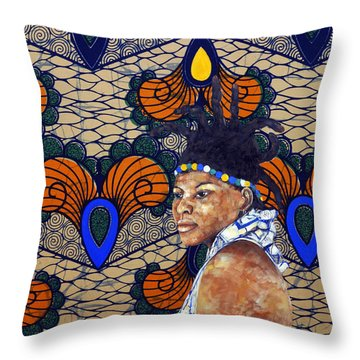 Kitenge Background Series Throw Pillow