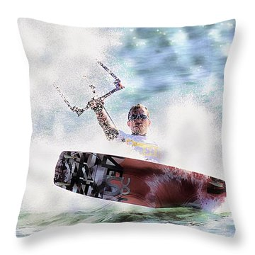 Kitesurf  Throw Pillow