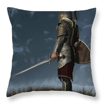 Knight Of The Storm Throw Pillow