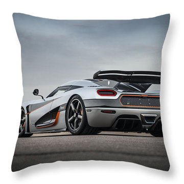 Koenigsegg One1 Throw Pillow