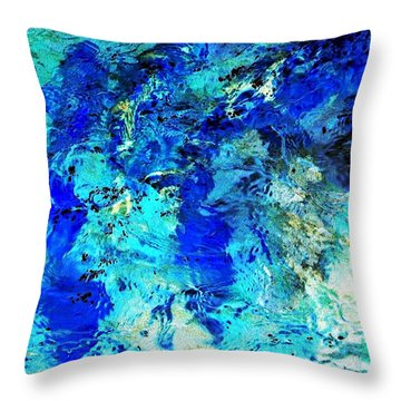 Koi Abstract Throw Pillow