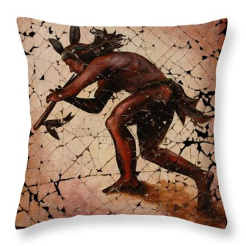 Kokopelli The Flute Player  Throw Pillow