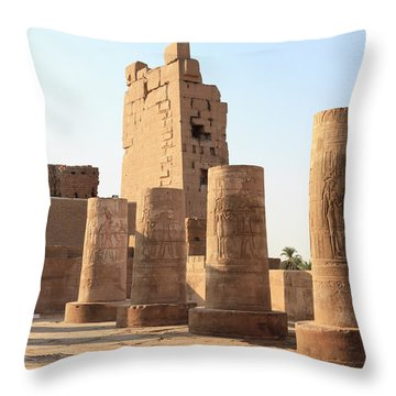 Throw Pillow featuring the photograph Kom Ombo by Silvia Bruno