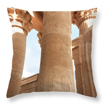 Throw Pillow featuring the photograph Kom Ombo Temple by Silvia Bruno