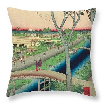 Koume Embankment Throw Pillow