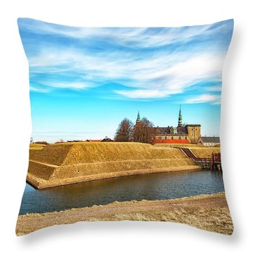 Throw Pillow featuring the photograph Kronborg Castle In Helsingor by Antony McAulay