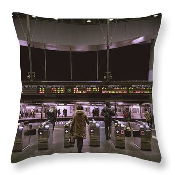 Kyoto Train Station, Japan Throw Pillow
