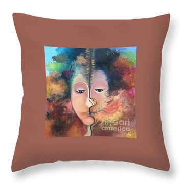 La Fille Foret Throw Pillow