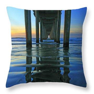 La Jolla Blue  Throw Pillow