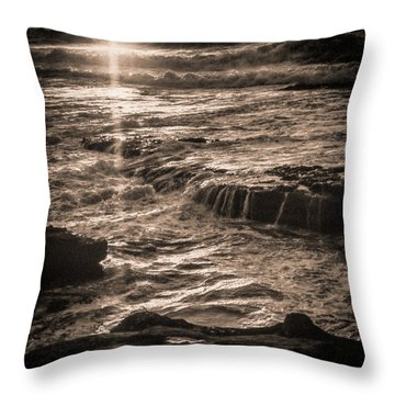 Throw Pillow featuring the photograph La Jolla Sunset by Samuel M Purvis III