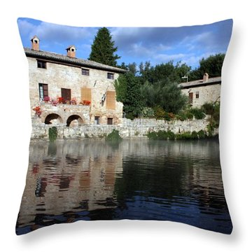 Throw Pillow featuring the photograph La Terme by Pat Purdy
