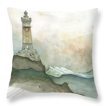 La Vieille Lighthouse Throw Pillow