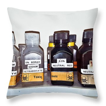Laboratory Chemicals Throw Pillow