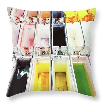 Laboratory Tissue Stains Throw Pillow