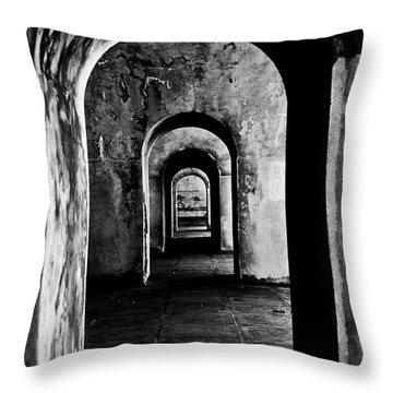 Labyrinth Throw Pillow by Grebo Gray