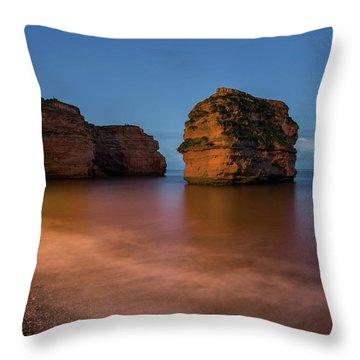 Ladram Bay In Devon Throw Pillow
