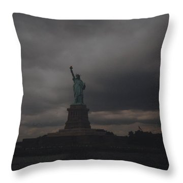 Lady Liberty Throw Pillow by Rob Hans