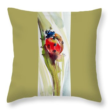 Ladybird Throw Pillow
