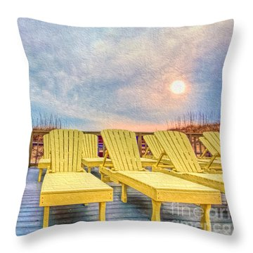 Laid Back Throw Pillow by Marion Johnson