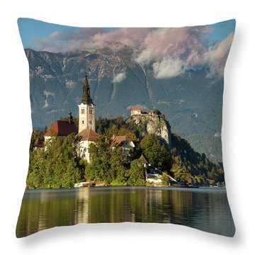 Throw Pillow featuring the photograph Lake Bled by Brian Jannsen