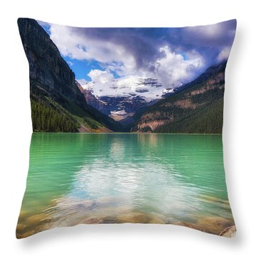 Lake Louise Is Really Green Throw Pillow