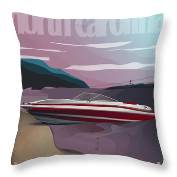 Lake Norman Poster  Throw Pillow