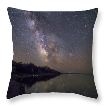 Throw Pillow featuring the photograph Lake Oahe  by Aaron J Groen