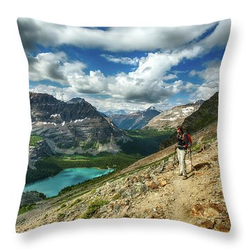 Lake O'hara Adventure Throw Pillow