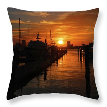 Throw Pillow featuring the photograph 1- Lake Park Marina by Joseph Keane