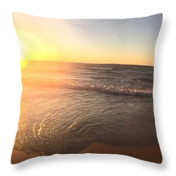 Throw Pillow featuring the photograph Lake Superior Fall by Paula Brown