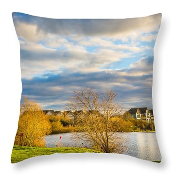 Throw Pillow featuring the photograph Lake View by Gary Gillette