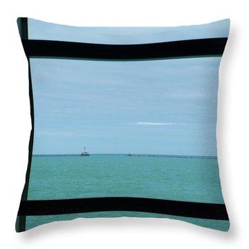 Lake View I Throw Pillow by Anna Villarreal Garbis