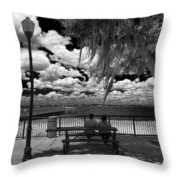 Throw Pillow featuring the photograph Lake View by Lewis Mann