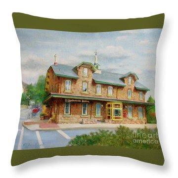 Lambertville Inn Throw Pillow