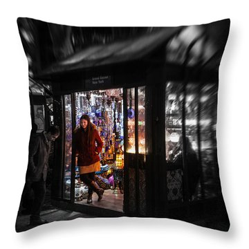 Throw Pillow featuring the photograph Lamp Shop by Ross Henton