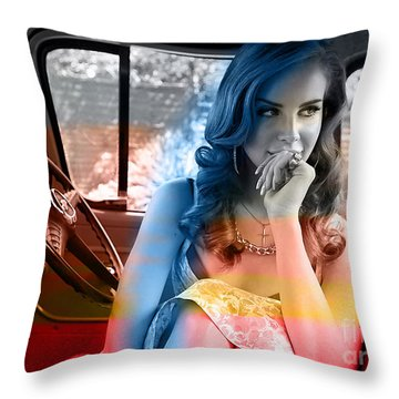 Lana Del Rey Throw Pillow