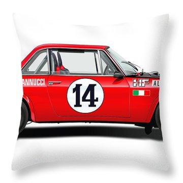 Lancia Fulvia Hf Illustration Throw Pillow by Alain Jamar