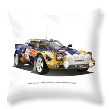Lancia Stratos Hf Throw Pillow