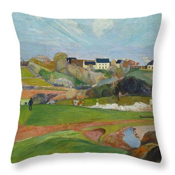 Landscape At Le Pouldu Throw Pillow
