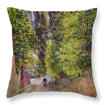 Landscape Near Louveciennes Throw Pillow by Alfred Sisley