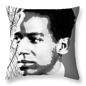 Langston Hughes Throw Pillow by Asok Mukhopadhyay